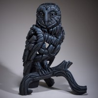 edge-sculpture---barn-owl-black-ed25b